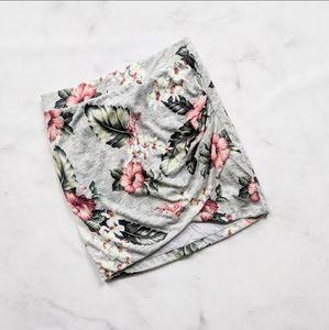 Zara Floral Draped Skirt